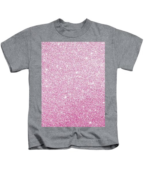 Hot Pink Glitter Kids T-Shirt