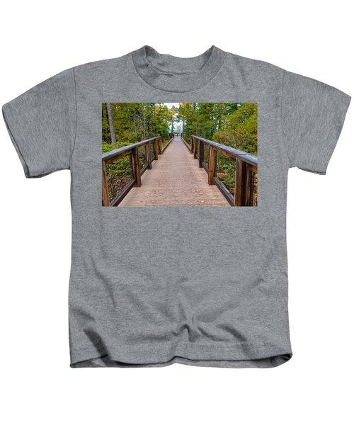 Hunter's Point At Copper Harbor Kids T-Shirt