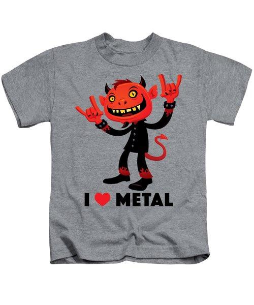 I Love Metal Devil Kids T-Shirt