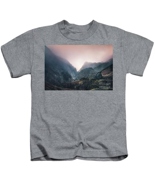 In The Mist Of The Hills Kids T-Shirt