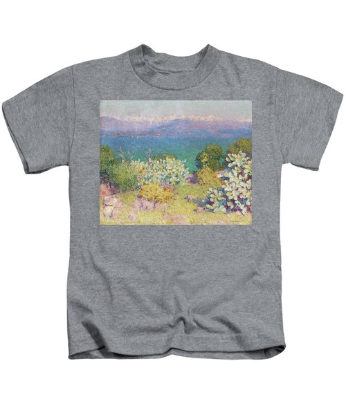 In The Morning, Alpes Maritimes From Antibes Kids T-Shirt