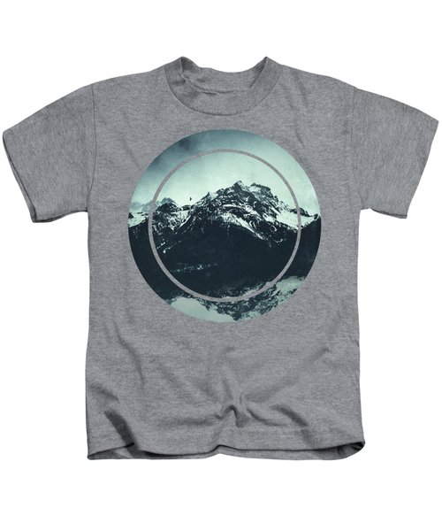 In The Shadow Of The Mountain Kids T-Shirt