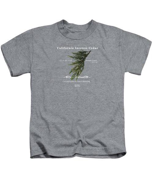 Incense Cedar - White Text Kids T-Shirt