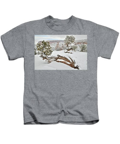 Independence Canyon Of Colorado National Monument Kids T-Shirt