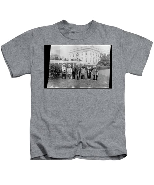 Indian Chiefs With President Harding Kids T-Shirt