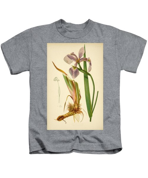 Iris Versicolor Blue Flag Kids T-Shirt