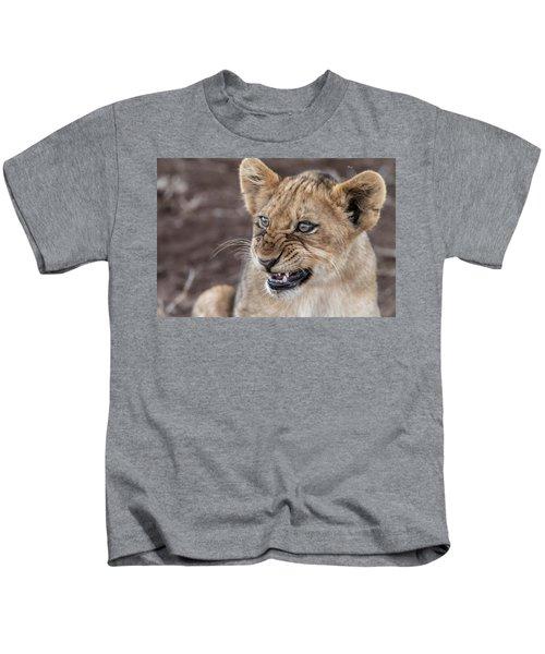 Irritated Lion Cub Kids T-Shirt