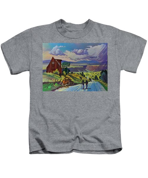 Journey Along The Road To Infinity Kids T-Shirt
