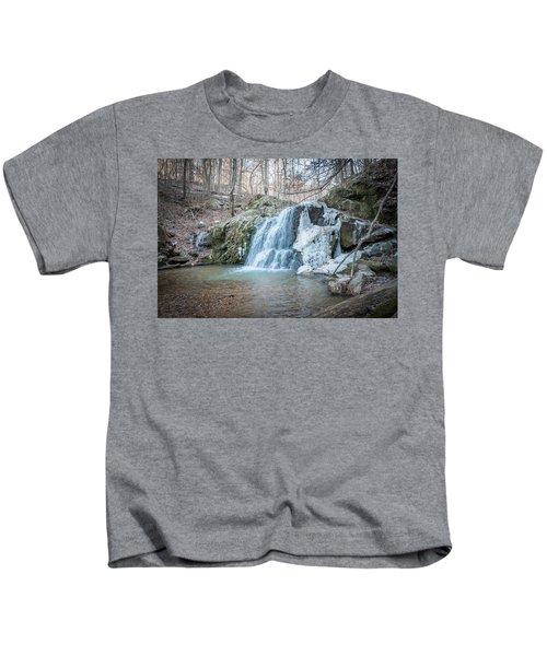 Kilgore Falls In Winter Kids T-Shirt