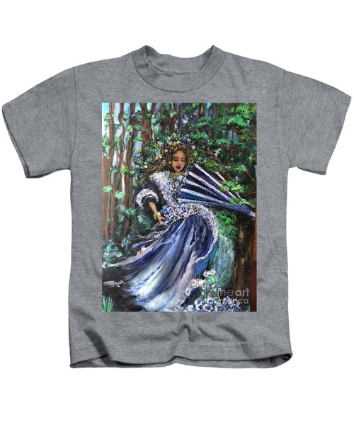 Lady In Forest Kids T-Shirt