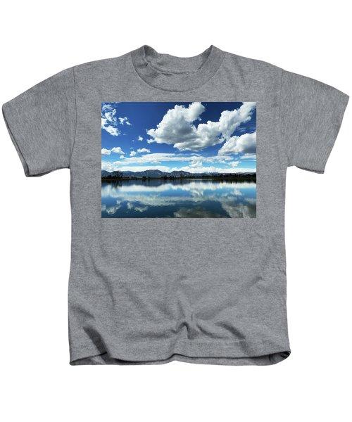 Lake At Flatirons  Kids T-Shirt