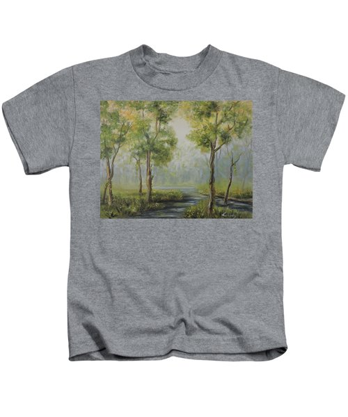 Landscape Of The Great Swamp Of New Jersey With Pond Kids T-Shirt