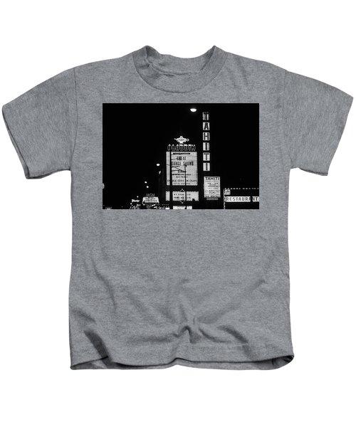 Las Vegas 1984 Bw #4 Kids T-Shirt