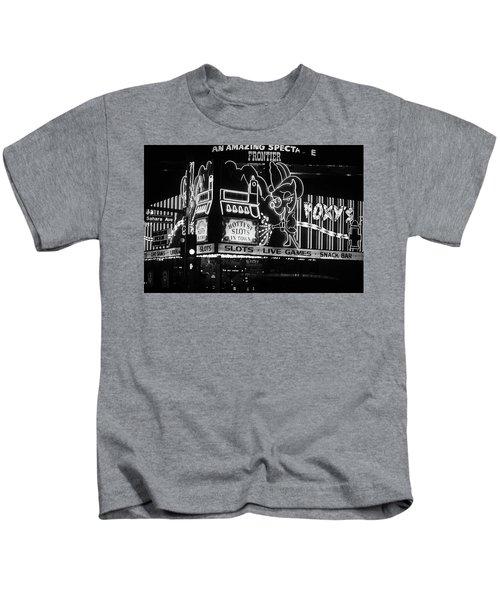 Las Vegas 1984 Bw #5 Kids T-Shirt