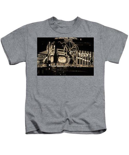 Las Vegas 1984 Sepia #5 Kids T-Shirt