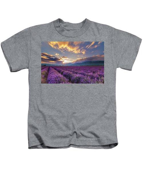 Lavender Sun Kids T-Shirt