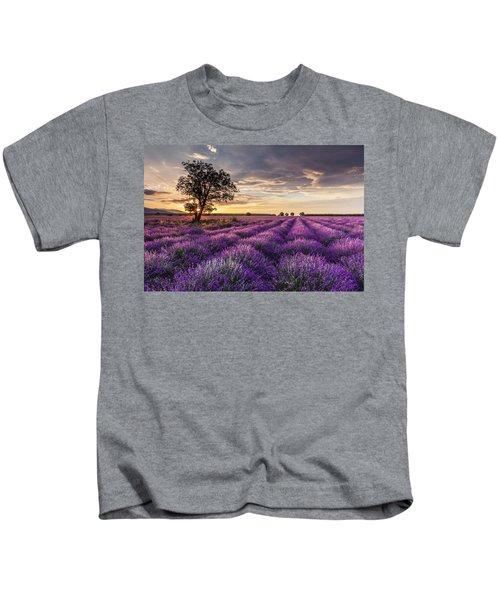 Lavender Sunrise Kids T-Shirt