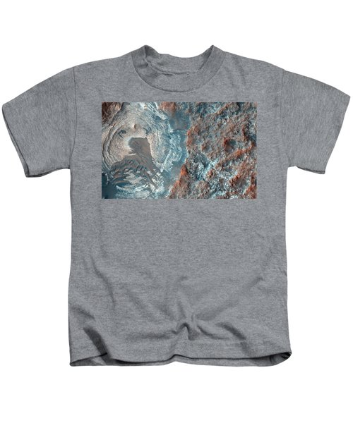 Layers And Dark Dunes On The Surface Of Mars Kids T-Shirt