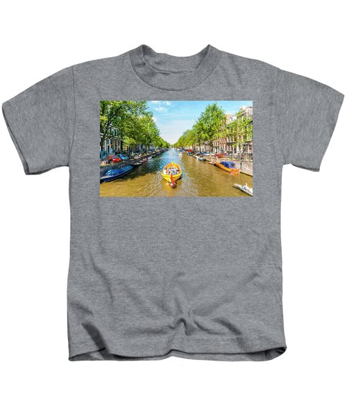 Lazy Sunday On The Canal Kids T-Shirt