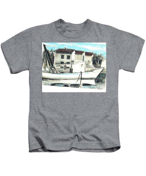 Le Barche Galleggianti Nel Mare Adriatico  Kids T-Shirt
