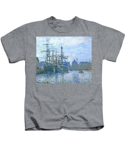 Le Havre, Le Bassin Du Commerce, 1874 Kids T-Shirt