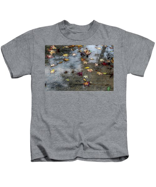 Leaves In The Rain Kids T-Shirt
