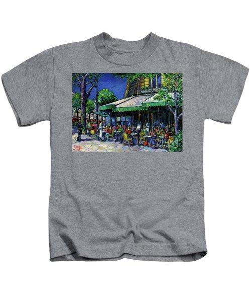 Les Deux Magots Paris Kids T-Shirt