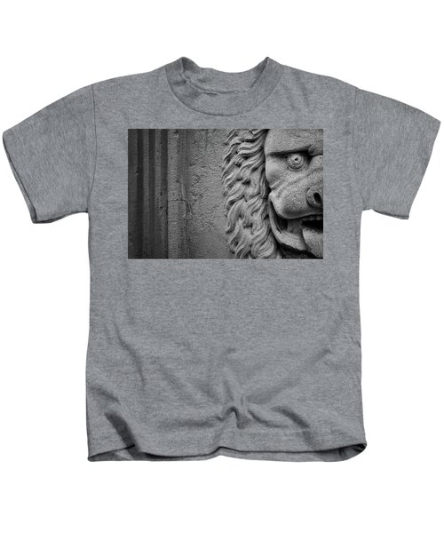 Lion Statue Portrait Kids T-Shirt