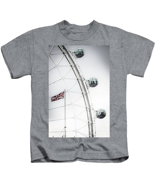 London Eye And Union Jack Kids T-Shirt