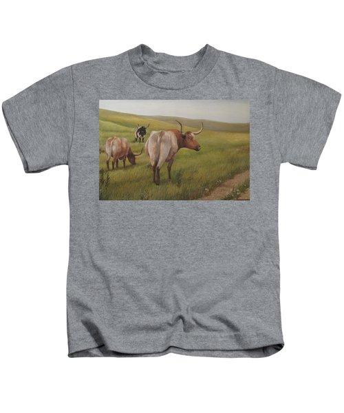 Long Horns Kids T-Shirt