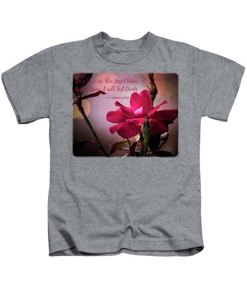 Love Is Like A Rose Kids T-Shirt