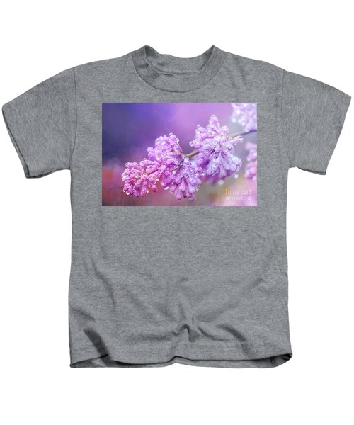 The Magic Of Lilacs In The Rain Kids T-Shirt