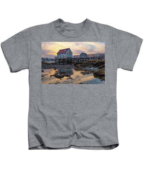 Low Tide Reflections, Badgers Island.  Kids T-Shirt