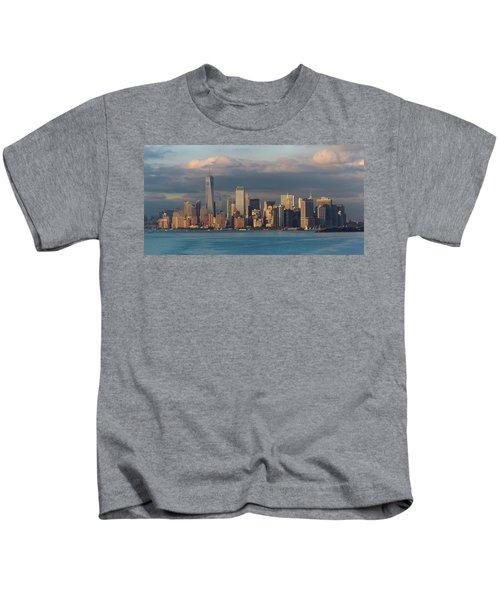 Lower Manhattan Panoramic Kids T-Shirt