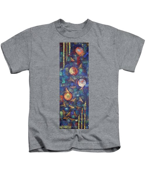 Luminous Dragonflies Kids T-Shirt