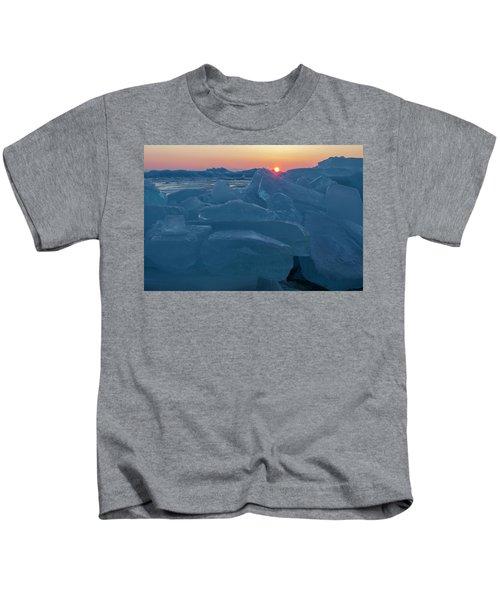 Mackinaw City Ice Formations 21618013 Kids T-Shirt