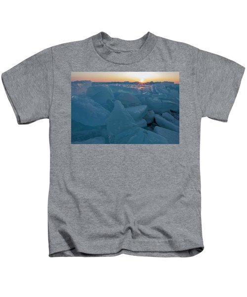Mackinaw City Ice Formations 21618014 Kids T-Shirt