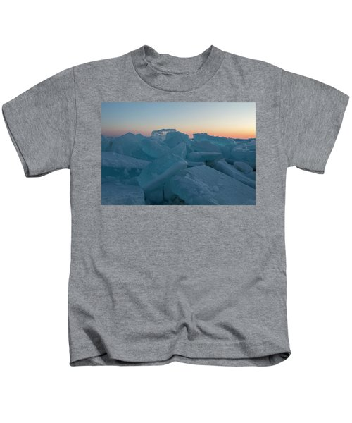 Mackinaw City Ice Formations 2161808 Kids T-Shirt