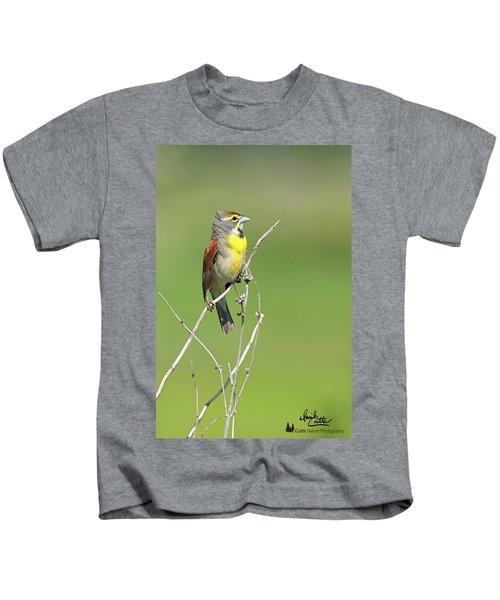 Male Dickcissel Kids T-Shirt