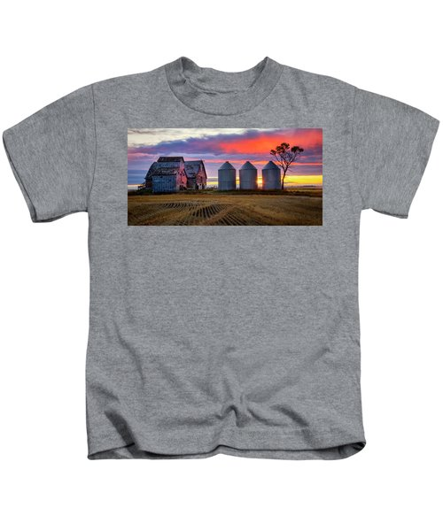Manitoba Rural Scene Kids T-Shirt