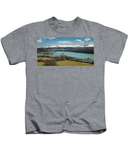 Menai Bridge Anglesey Kids T-Shirt
