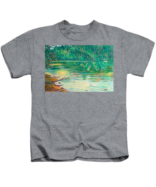 Mid-spring On The New River Kids T-Shirt