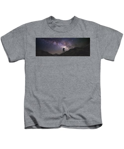 Milky Way Rappel Kids T-Shirt