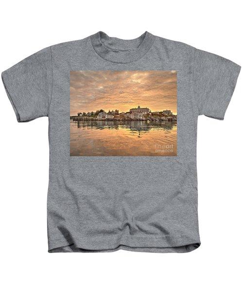 Monhegan Sunrise - Harbor View Kids T-Shirt