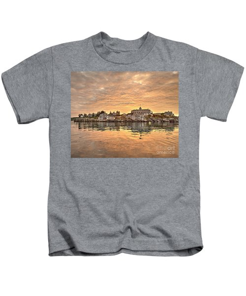 Monhegan Sunrise - Harbor View Kids T-Shirt