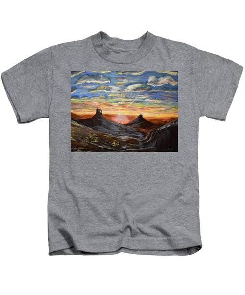 Monument Valley And Kokopelli Kids T-Shirt