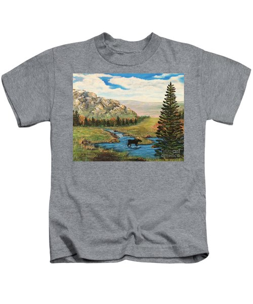 Moose In The Rut Kids T-Shirt