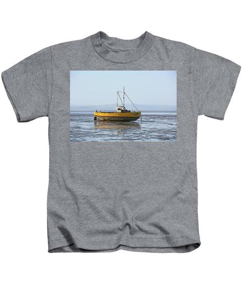 Morecambe. Yellow Fishing Boat. Kids T-Shirt