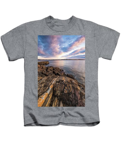 Morning Light Over The Piscataqua River. Kids T-Shirt