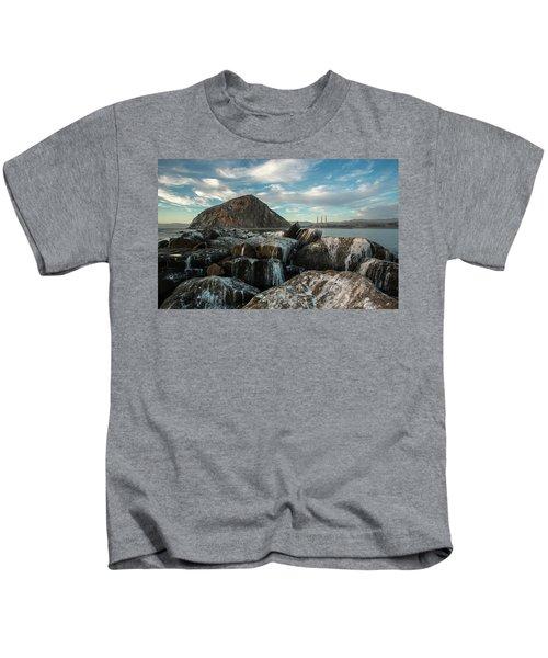 Morro Rock Breakwater Kids T-Shirt